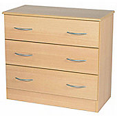 Welcome Furniture Avon 3 Drawer Chest - Light Oak