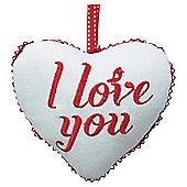 Fabric Heart Decoration - Love