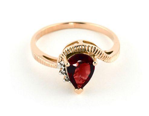 QP Jewellers Diamond & Garnet Belle Diamond Ring in 14K Rose Gold - Size A