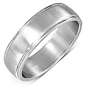 Urban Male Solid Brushed Finish Stainless Steel Band Ring
