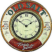 "Roger Lascelles Clocks ""Old Salt"" Nautical Wall Clock"