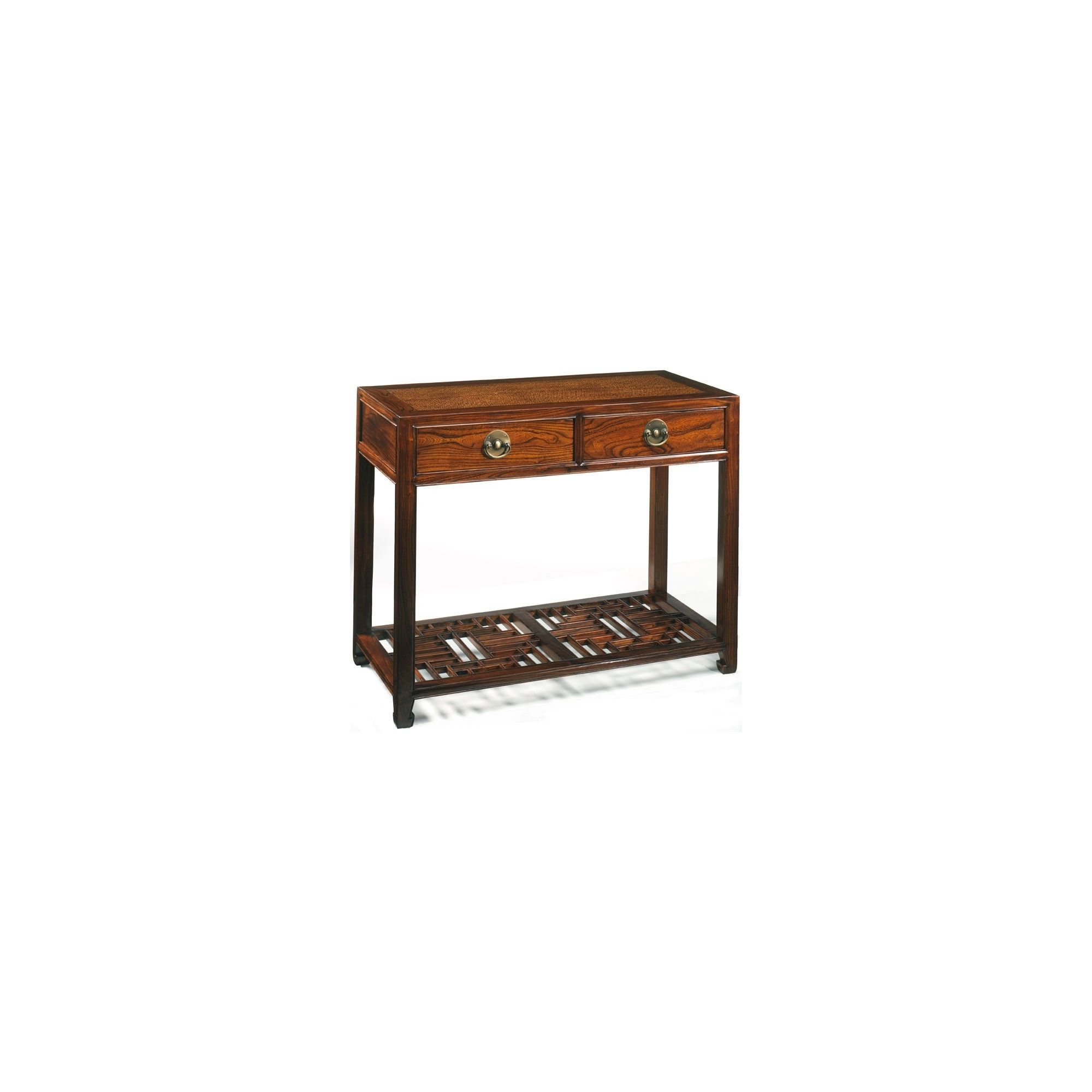 Shimu Chinese Classical Carved Console Table - Warm Elm at Tesco Direct