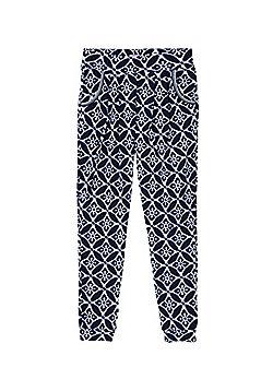 F&F Tile Print Harem Pants - Blue