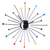 Premier Housewares Multi Colour Balls Wall Clock