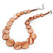 Coral Shell Necklace In Silver Plating - 40cm Length/ 3cm Extension