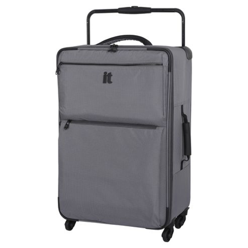 buy it luggage world 39 s lightest 4 wheel charcoal check. Black Bedroom Furniture Sets. Home Design Ideas