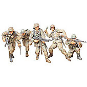 Military Miniatures German Front-line Infantry Men - 1:35 Scale Military - Tamiya
