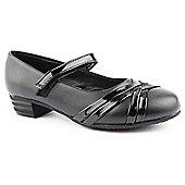 Skittles Girls Crisscross Black School Shoes - Black