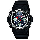 Casio Classic Unisex Rubber Chronograph Watch AWG-M100-1AER