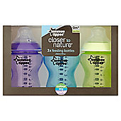Tommee Tippee Closer To Natureworld Boy Bottle 260Ml - 3 Pack