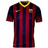 2013-14 Barcelona Home Nike Football Shirt (No Sponsor) - Red
