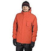 Mens Hockley Snow Winter Ski Snowboarding Jacket Coat - Orange