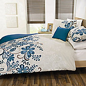 Dreams n Drapes Rosso   Quilt Set - Teal