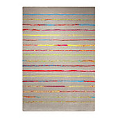 Esprit Joyful Stripes Taupe Woven Rug - 160 cm x 225 cm (5 ft 3 in x 7 ft 5 in)