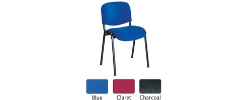 Jemini Ultra Multi-Purpose Stacking Chair Black Legs/Charcoal KF03344