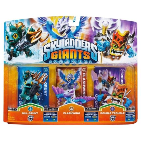 Skylanders Giants - Triple Character Pack - Flash Wing, Gill Grunt & Double Trouble