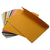 Handmade Recycled Paper Envelopes Assorted Colours. C5 100gsm, 20 pack.