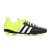 adidas Ace 15.4 FG Firm Ground Kids Football Boot Yellow/Black - Black