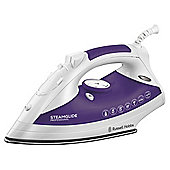 Russell Hobbs 18721 Steam Glide Non Stick Plate Steam Iron, Purple and White