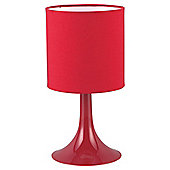 Tesco Lighting Pop Plastic Table Lamp Red