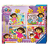 Dora the Explorer 4 in a Box Puzzles