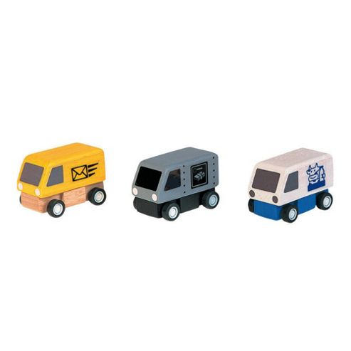 Plan Toys Delivery Vans Wooden Toy Set