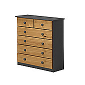 4 + 2 Chest of Drawers in Graphite and Antique