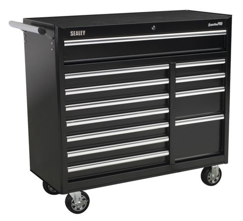 Sealey AP41120B - Rollcab 12 Drawer with Ball Bearing Runners Heavy-Duty - Black