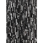 Angelo Star Black Skin Rug - 200cm x 140cm (6 ft 6.5 in x 4 ft 7 in)