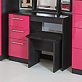 Welcome Furniture Knightsbridge Writing Desk - Black - Cream