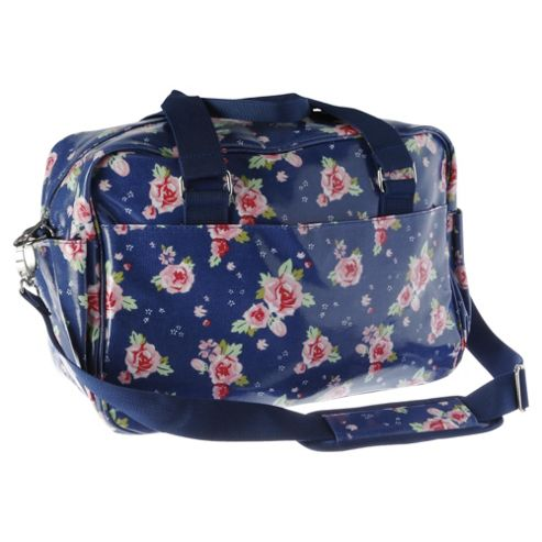 Buy Tesco Changing Bag Blue Floral From Our Baby Changing Bags Range - Tesco
