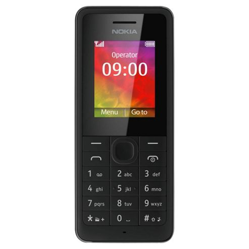 Tesco Mobile Nokia 106 Black