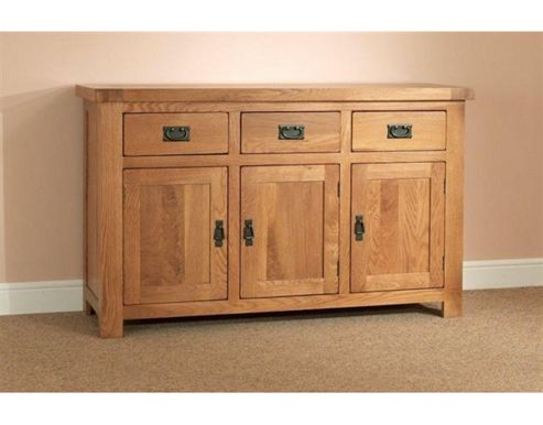 Sleepy Valley Buckingham Oak 3 Drawer Large Sideboard