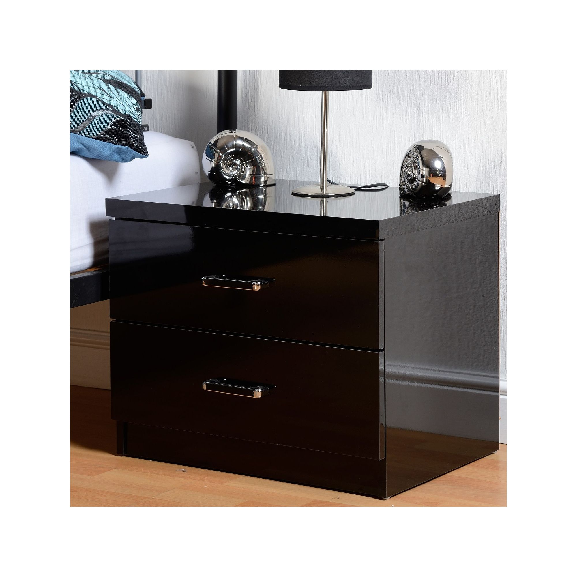 Black Gloss Bedside Tables And Cabinets Shop Gloss Furniture Uk