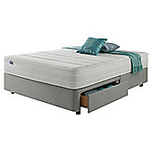 Silentnight Mirapocket 1200 Classic 2 Drawer Double Divan Light Grey no Headboard