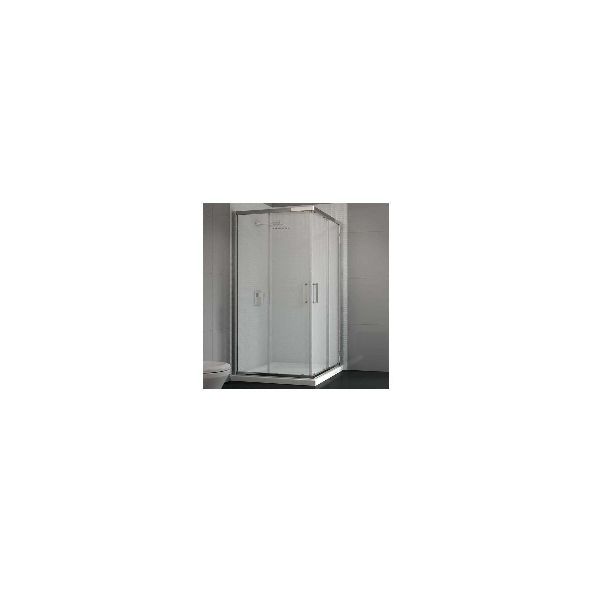 Merlyn Vivid Six Corner Entry Shower Enclosure, 800mm x 800mm, Low Profile Tray, 6mm Glass at Tesco Direct