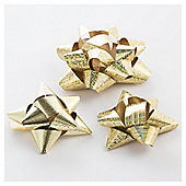 Tesco 20Pk Bows Gold