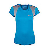 Glide Short Sleeved Womens T-Shirt - Blue