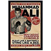 Muhammad Ali Black Wooden Framed Heavyweight Champion of the World Poster