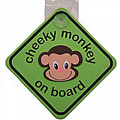 Cheeky Monkey on Board Sign