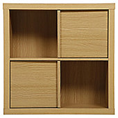 Tribeca 2 Shelf Cube Unit Oak