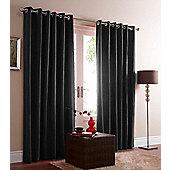 Eclipse Blackout Eyelet Curtains - Black