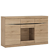 Summer 3 Door 3 Drawer Glazed Sideboard
