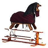 Rocking Horse Champion with Burgundy Blanket