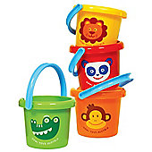 Gowi Toys 558-03 Zoo Animal Bucket (Designs Vary)
