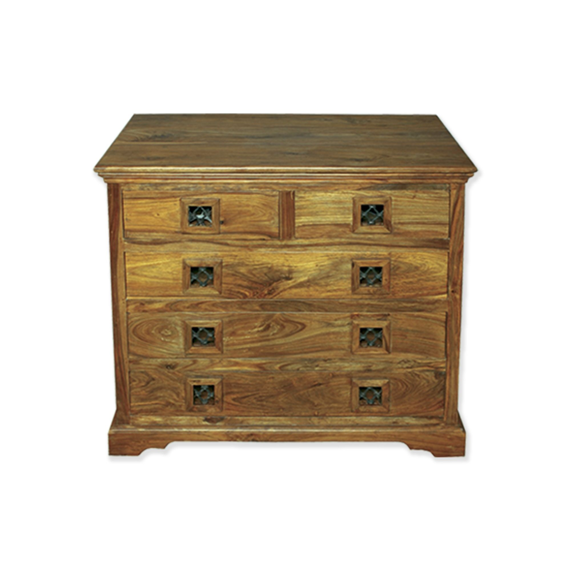 Elements Jaitu Block Five Drawer Chest in Warm Lacquer at Tesco Direct