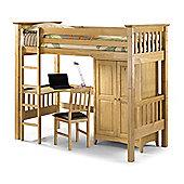 Happy Beds Bedsitter 3ft Kids Wood Sleep Station Bunk Bed Frame