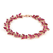 QP Jewellers 6in 16.50ct Ruby Butterfly Bracelet in 14K Rose Gold