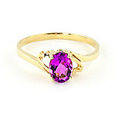 QP Jewellers 1.0ct Pink Topaz Classic Desire Ring in 14K Gold