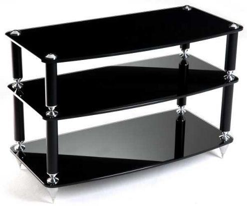 Atacama 3 shelf AV stand in Black